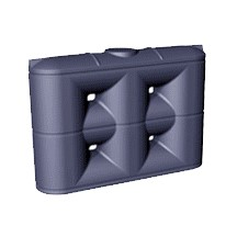 5000 Litre Enviro Standard Slimline PVC Rainwater Tank