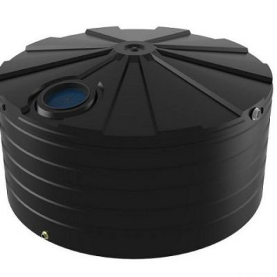 10000 Litre Bushmans Squat Round PVC Rainwater Tank